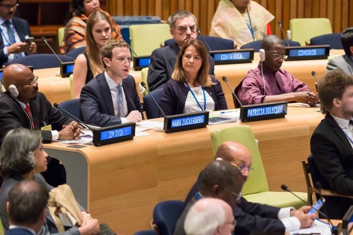 Mark Zuckerberg discorso nazioni unite internet