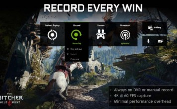nvidia geforce experience game sharing overlay