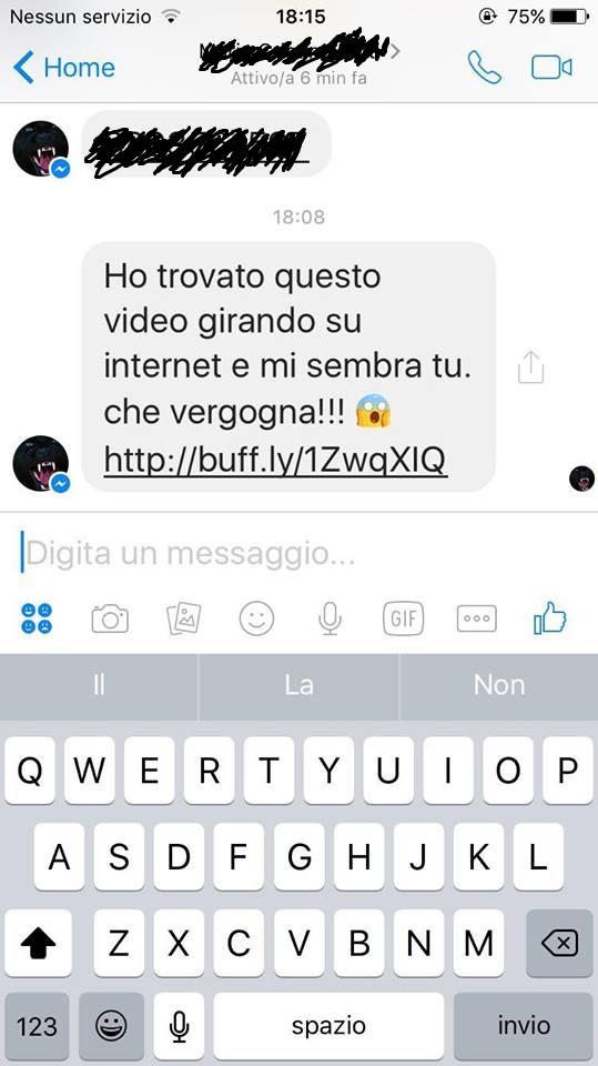 Il virus che gira su Facebook