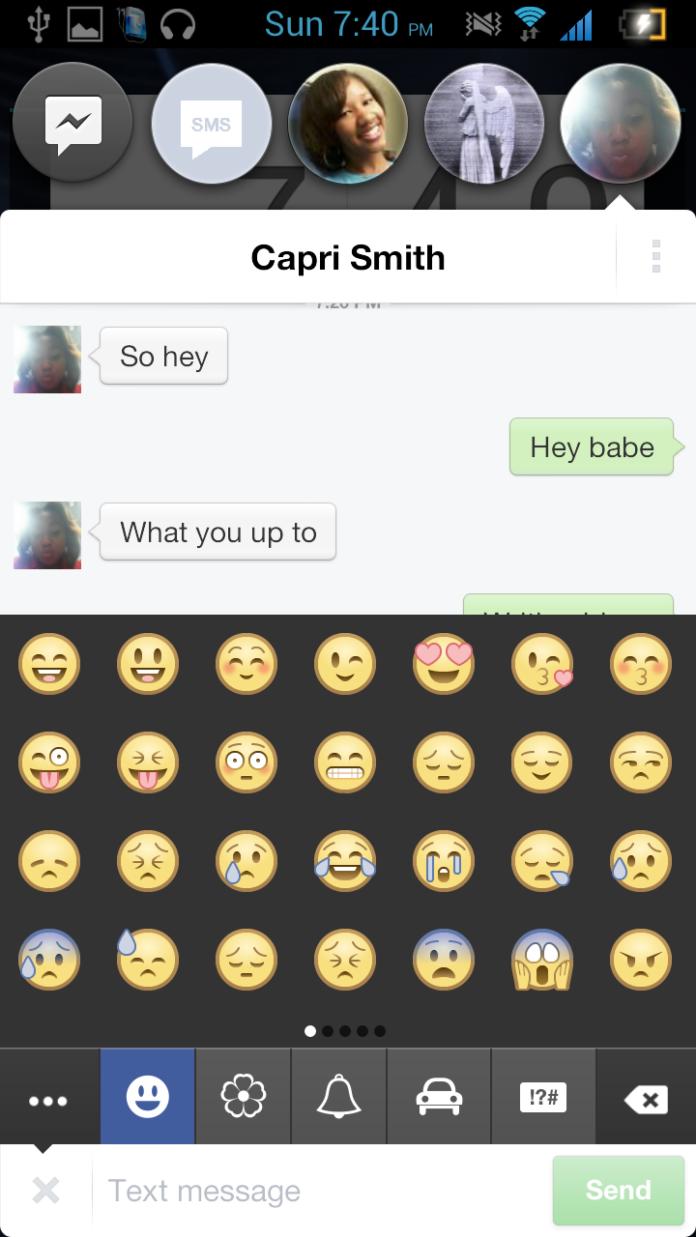 Facebook messenger, piu emoji per tutti