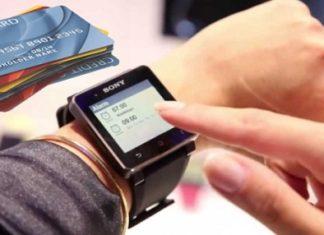 Smartwatch pin bancomat