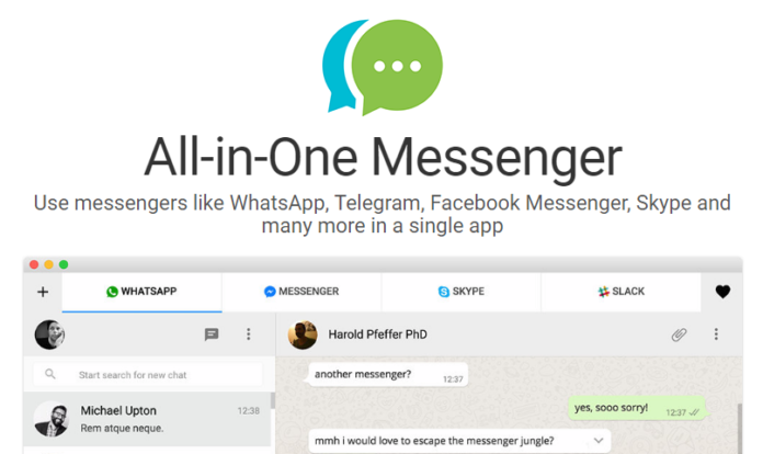all in one messenger google chrome