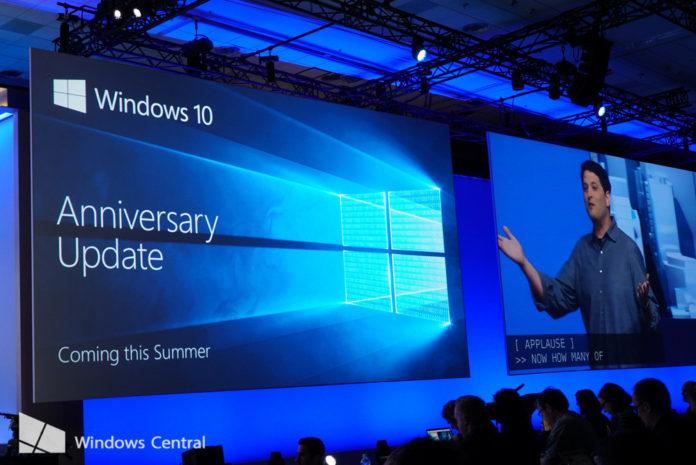 Windows 10 Anniversary Update mobile