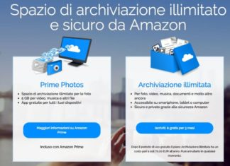 amazon archiviazione illimitata
