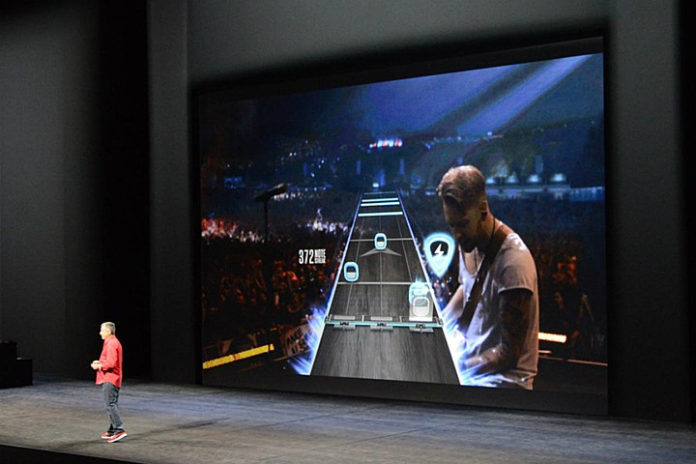 apple tv guitar hero