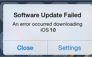 iOS 10 si blocca durante l'update