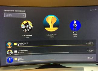 menu gamerscore xbox one