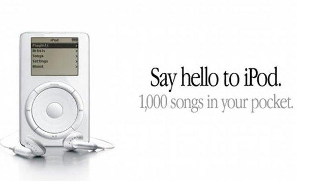 iPod di Apple compie 15 anni