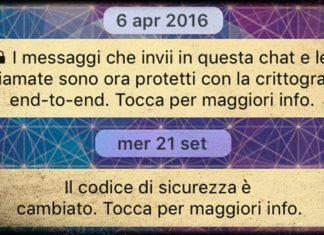 Falla di Whatsapp sui messaggi criptati