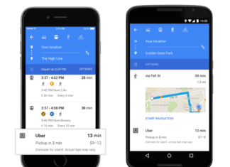 Google Maps integra Uber