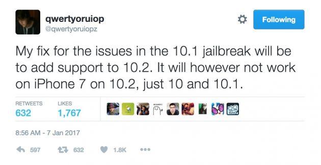 Jailbreak per iOS 10.2 ci sarà