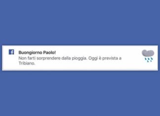 facebook diventa un meteo