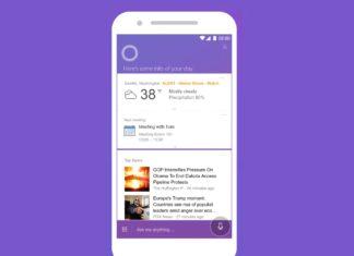 Cortana per iOS dopo l'aggiornamento diventa viola