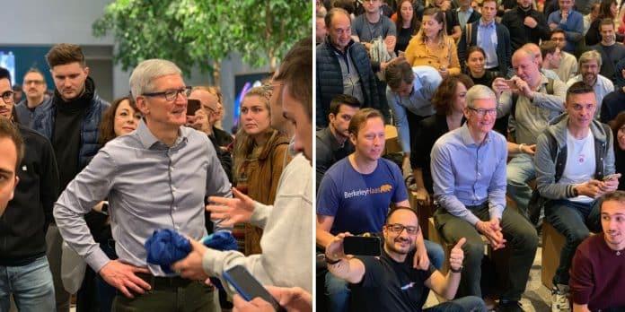 Apple Store Milano, Tim Cook arriva a sorpresa