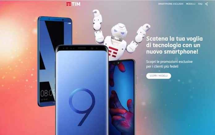 Tim offerta Huawei P20 Pro, Samsung Galaxy S9 e Apple iPhone XS