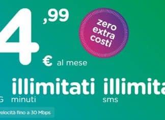 Ho. propone 50 GB al mese a soli €4,99 al mese