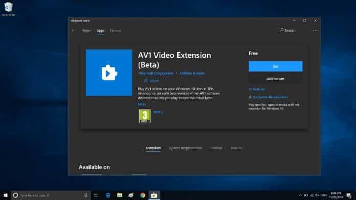 Su Windows 10 arriva il nuovo Codec AV1