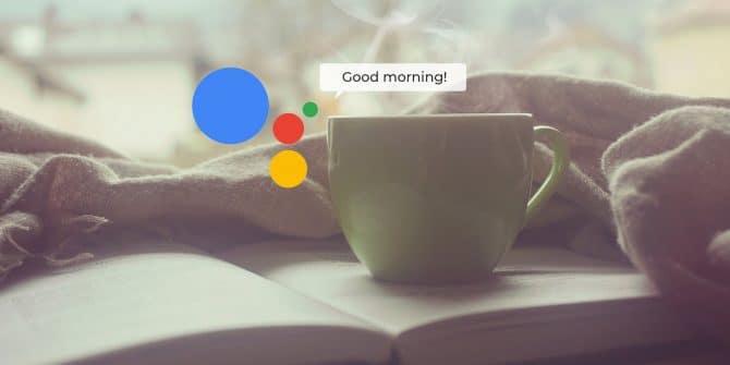 Google Assistant routine con un solo comando