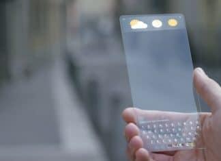Sony brevetto smartphone trasparente