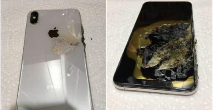 iPhone XS Max in fiamme sulle tasche di un cittadino americano