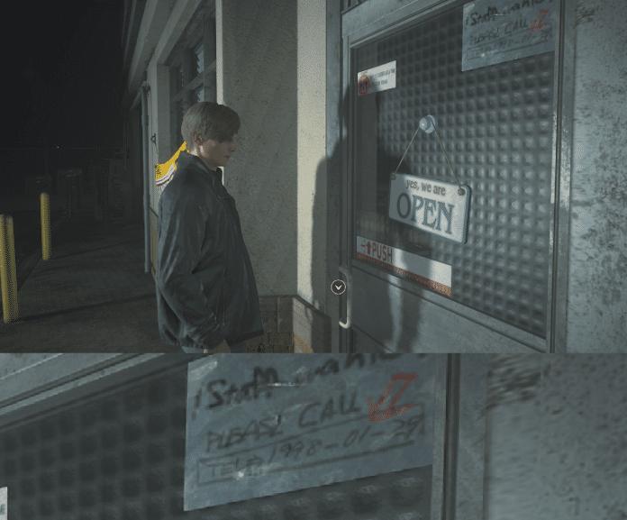 easter egg Resident Evil 2 stazione di servizio data 1998