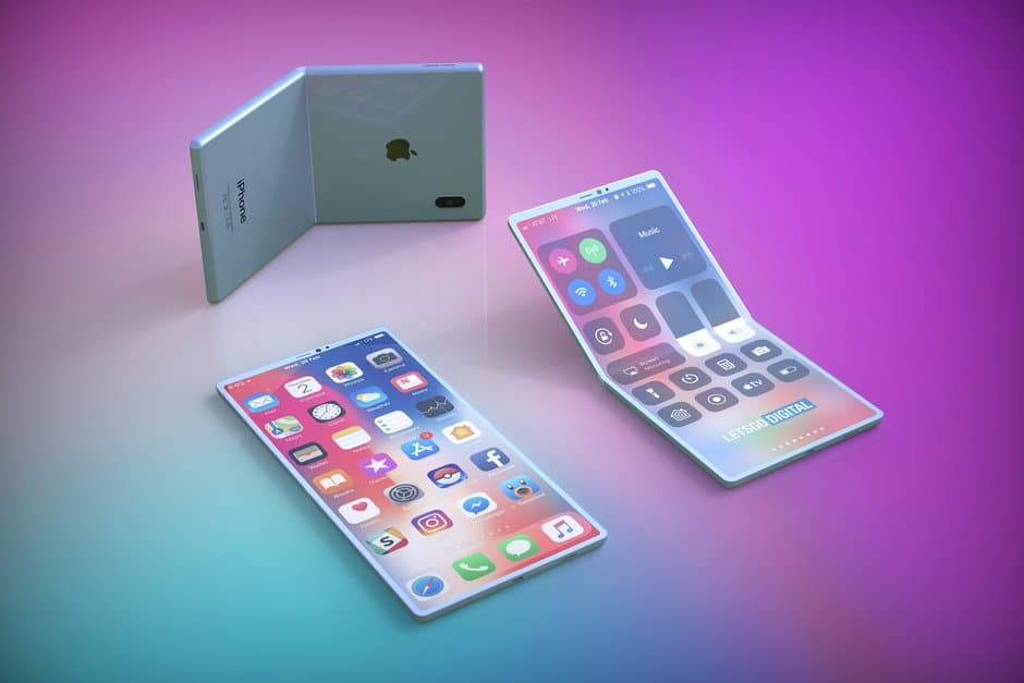 Apple pieghevole rendering 3D
