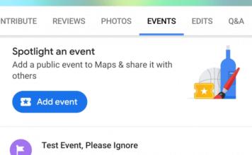 Creare eventi pubblici Google Maps Guide Locali