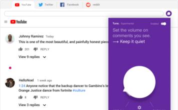 Estensione Tune Chrome bloccare commenti offensivi