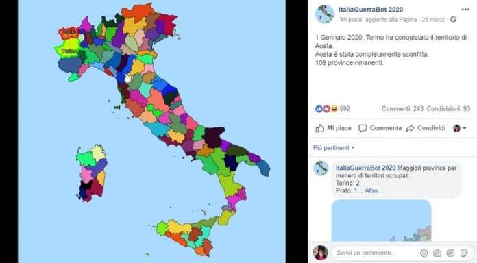 ItaliaGuerraBot 2020 Facebook come funziona