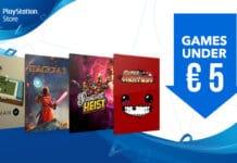 PlayStation Store giochi s a meno di €5