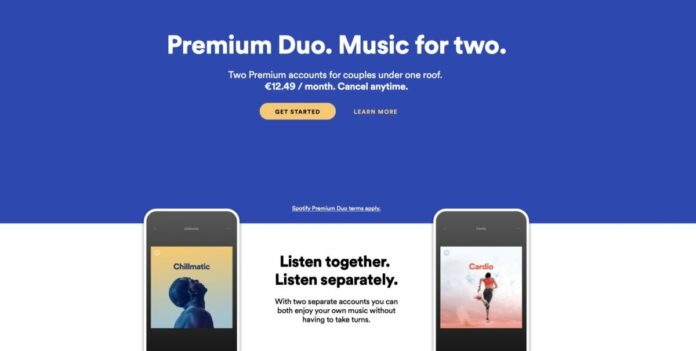 Spotify Premium Duo costo e caratteristiche