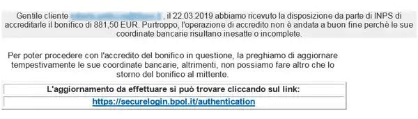 Truffa INPS 2019