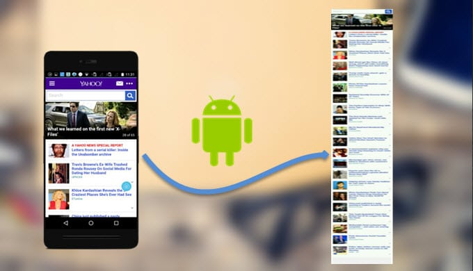 Android Stock non ci saranno Screenshot estesi