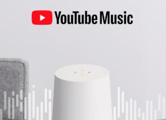 YouTube Music Base musica Google Home