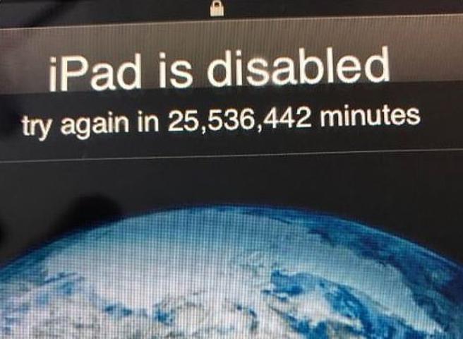 iPad bloccato 48 anni bimbo USA
