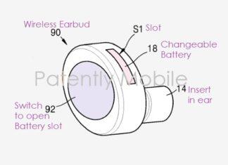 Brevetto batteria removibile Samsung Galaxy Buds