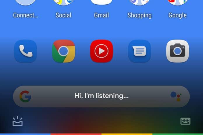 Google Assistant barra trasparente 9.84.10.21