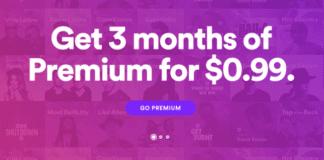 Spotify Premium offerta tre mesi €0,99