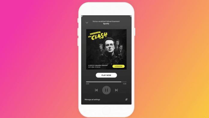 Spotify pubblicità interattive a comando vocale