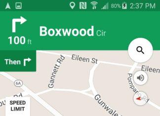 Google Maps rilevamento velocità tachimetro