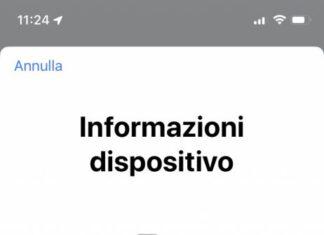 Nuova schermata IMEI iOS 13