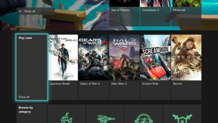 Aggiornamento Xbox One lista Play Later e supporto Alexa