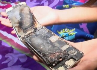 iPhone 6 esploso in mano Kayla 11 anni