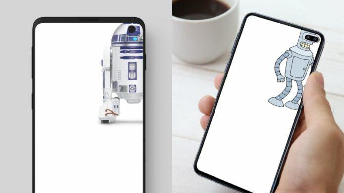 Samsung Galaxy S10 sfondi per coprire il foro