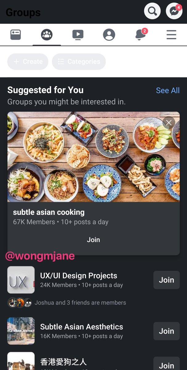 Screenshoot Jane Manchun Wong Facebook dark mode