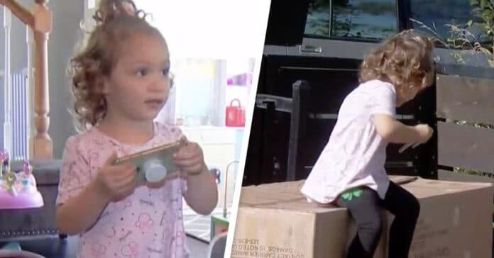 Bimba di due anni (Ryana) compra un divano su Amazon