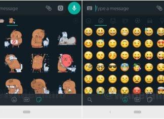 Whatsapp beta in Dark Mode