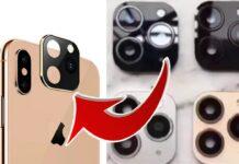 Adesivo per trasformare vecchio iPhone nel modello 11 e 11 Pro