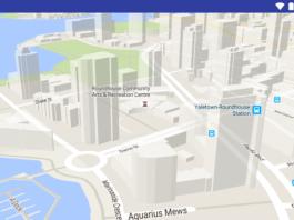 Attivare e disattivare edifici in 3D, pulsante Google Maps