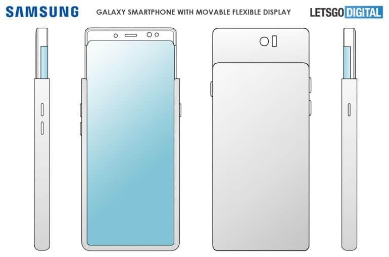 Brevetto Samsung smartphone con display a cascata